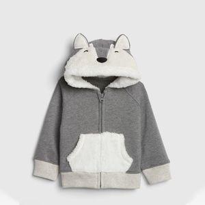Sherpa Critter Hoodie Sweatshirt